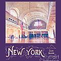 New York City Ellis Island Digital Watercolor by Beverly Claire Kaiya