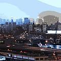 New York City Evening Sky by David Leiman