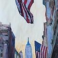 New York City - Manhattan Stars And Stripes by M Bleichner