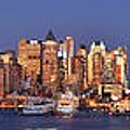 New York City Midtown Manhattan At Dusk by Jon Holiday