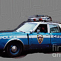 Vintage New York City Police Car 1980s by Tom Conway