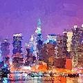 New York City - Skyline 0 by Samuel Majcen