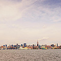New York City Skyline And The Hudson River by Vivienne Gucwa