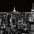 New York City Skyline At Night by Dan Sproul