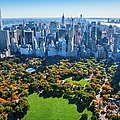 New York City Skyline, Central Park by Dszc