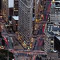 New York City Skyline Flatiron Building by Silvio Ligutti