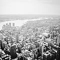 New York City Skyline - Foggy Day by Vivienne Gucwa