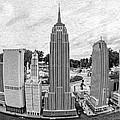 New York City Skyline - Lego by Edward Fielding