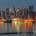 New York City Skyline Morning Twilight Xii by Clarence Holmes