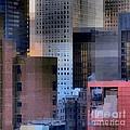 New York City Skyline No. 3 - City Blocks Series by Miriam Danar