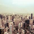 New York City - Skyline On A Hazy Evening by Vivienne Gucwa