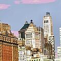 New York City Skyline by Luther Fine Art