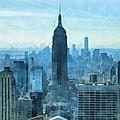 New York City Skyline Summer Day by Dan Sproul
