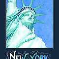 New York City Statue Of Liberty Digital Watercolor 1 by Beverly Claire Kaiya