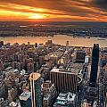New York City Sunset Panorama by Songquan Deng