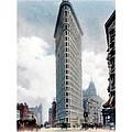 New York City - The Flatiron Building - Fifth Avenue - 1904 by John Madison