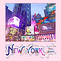 New York City Times Square Night View Digital Watercolor by Beverly Claire Kaiya