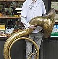 New York Dance Parade 2013 Musician With Sousaphone by Robert Ullmann