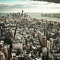 New York From Above - Vintage by Hannes Cmarits