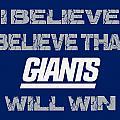 New York Giants I Believe by Joe Hamilton