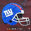 New York Giants Nfl Football Helmet License Plate Art by Design Turnpike