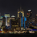 New York In Blue by Mike Reid