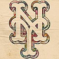 New York Mets Poster Art by Florian Rodarte