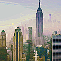 New York Misty Morning by Regina Geoghan