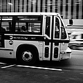 New York Mta City Bus Speeding Along 34th Street Usa by Joe Fox