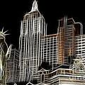 New York New York In Las Vegas by Bob Christopher