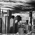 New York Pano Bw I by Chuck Kuhn