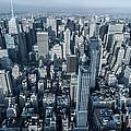 New York Panoramic View From Empire by Luca Venturelli