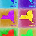 New York Pop Art  Map 3 by Naxart Studio