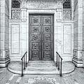 New York Public Library Entrance II by Clarence Holmes