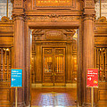 New York Public Library Main Reading Room Entrance I by Clarence Holmes