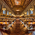 New York Public Library Main Reading Room Vii by Clarence Holmes