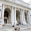 New York Public Library by Valentino Visentini