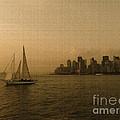 New York Sailing At Sunset by Avis  Noelle