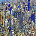 New York Skyline 20130430v2 by Wingsdomain Art and Photography