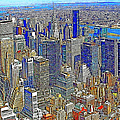 New York Skyline 20130430v4-square by Wingsdomain Art and Photography