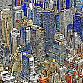 New York Skyline 20130430v5-square by Wingsdomain Art and Photography