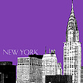 New York Skyline Chrysler Building - Purple by DB Artist