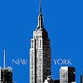 New York Skyline Empire State Building - Blue by DB Artist