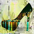 New York Skyline In A Shoe by Marvin Blaine