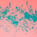 New York Skyline Paint Splash by Brian Reaves