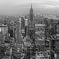 New York Skyline Panorama Bw by Yhun Suarez
