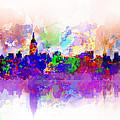 New York Skyline Splats 3 by Bekim Art