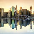 New York Skyline Sunset by Yhun Suarez