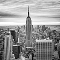 Black And White Photo Of New York Skyline by Dave Beckerman