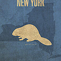 New York State Facts Minimalist Movie Poster Art  by Design Turnpike